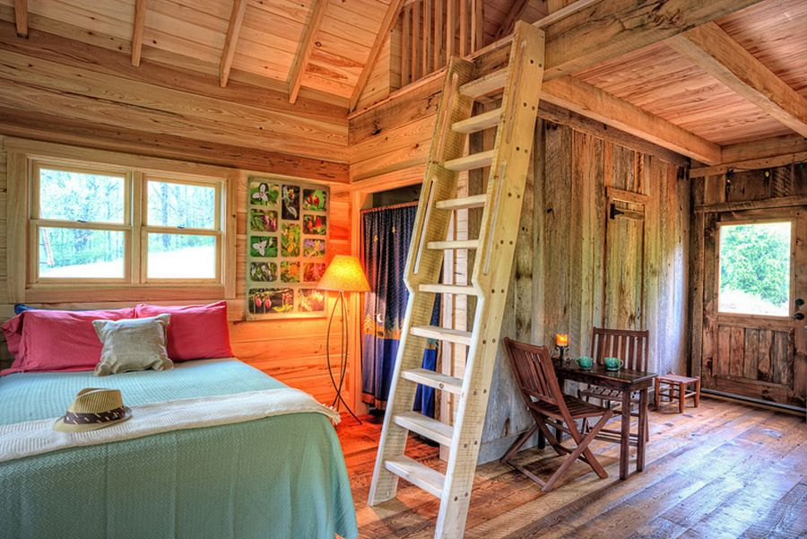 Rustic cabin interior design ideas for Small cabin interiors photos