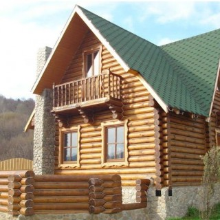 Romanian wooden houses are practical