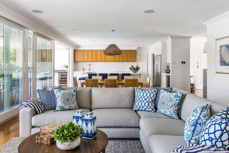 White and blue in interior design perfect match