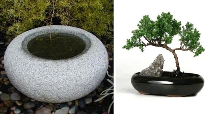 Japanese style garden furniture