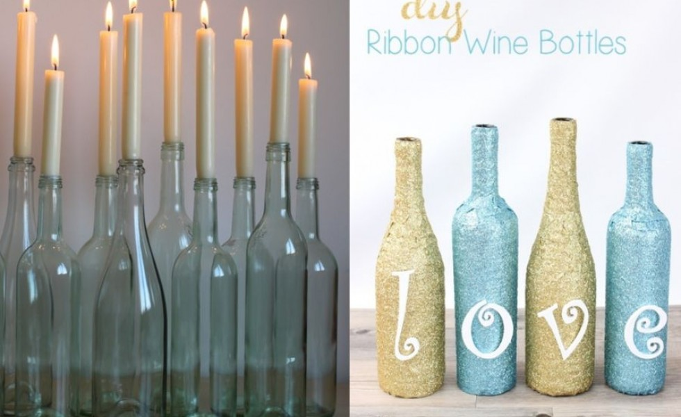 Creative ideas to reuse wine bottles at home
