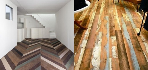 Reclaimed wood flooring projects at home