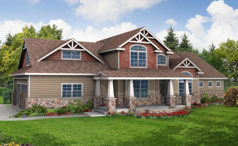One story craftsman house plans for Single story craftsman homes