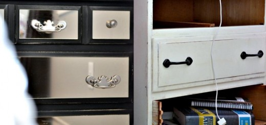 Old dressers makeover with a little paint at home