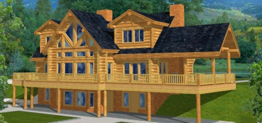 Big window house plans for Mountain house plans with walkout basement