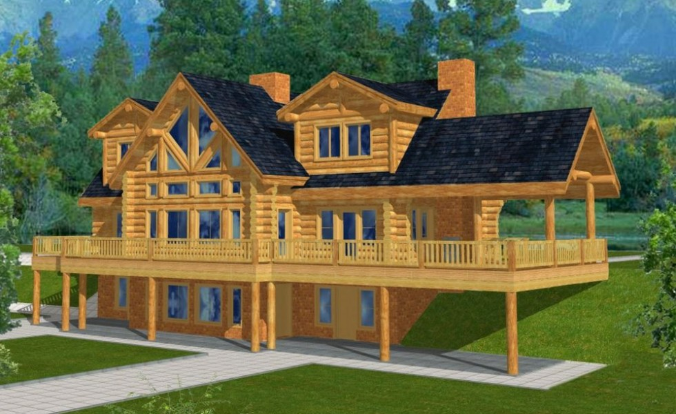 Mountain Home Plans With Walkout Basement And Attic