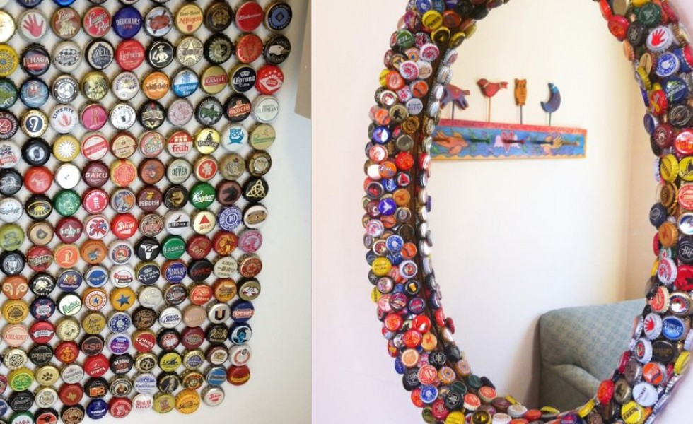 At Home De plastic bottle caps crafts ideas