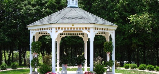 How to build a gazebo from wood in the garden