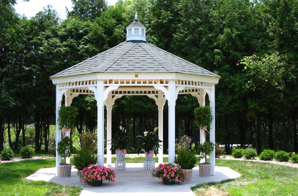 How to build a gazebo from wood for Garden pavilion designs