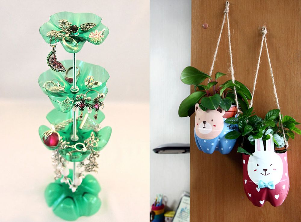 Interior decoration with waste material - Plastic Bottles Recycling Ideas Boundless Imagination