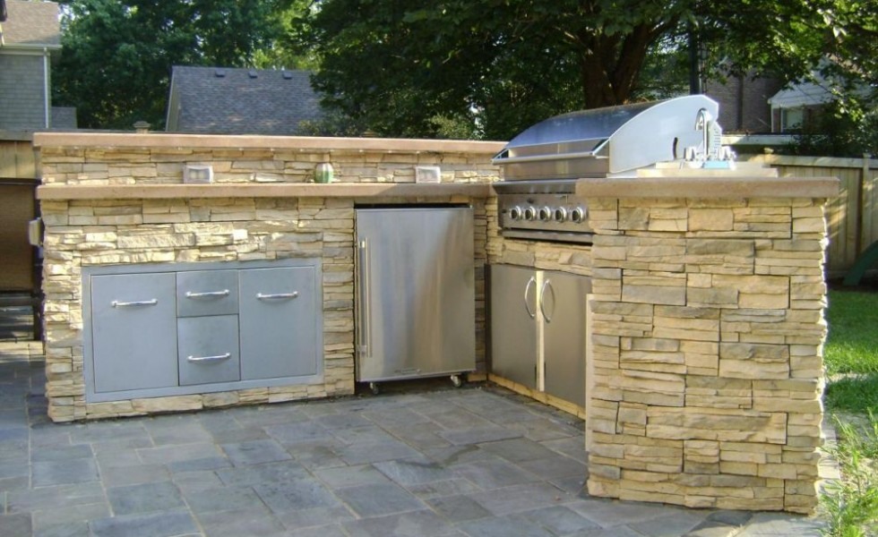 How to build an outdoor kitchen - How to build an outdoor kitchen a practical terrace ...