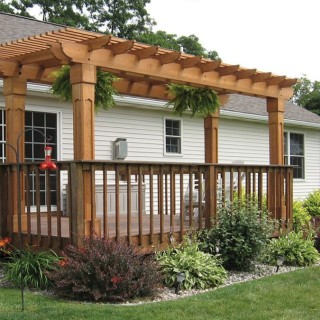 How to build a pergola over a concrete patio at home