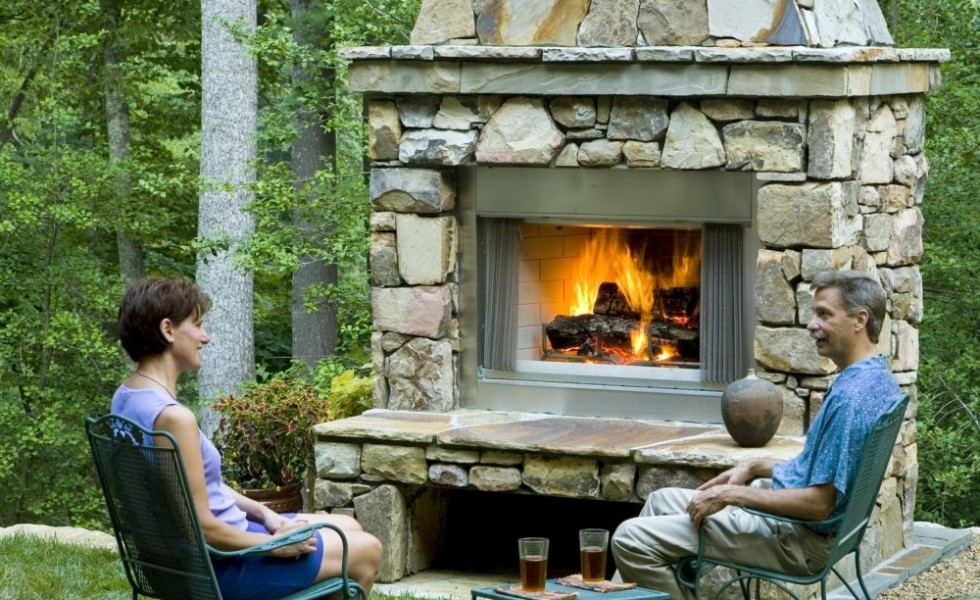How to build an outdoor stone fireplace step by step Fireplace step