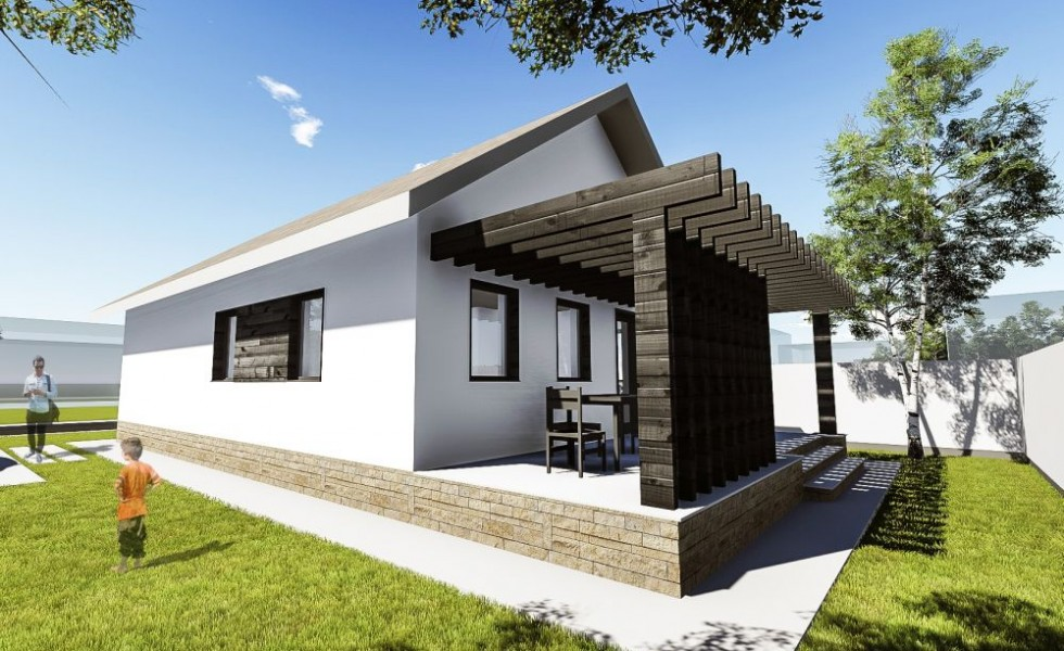 Small one room house plans Single room house design