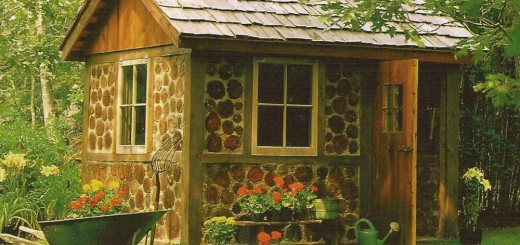 How to build a wooden shed in the garden