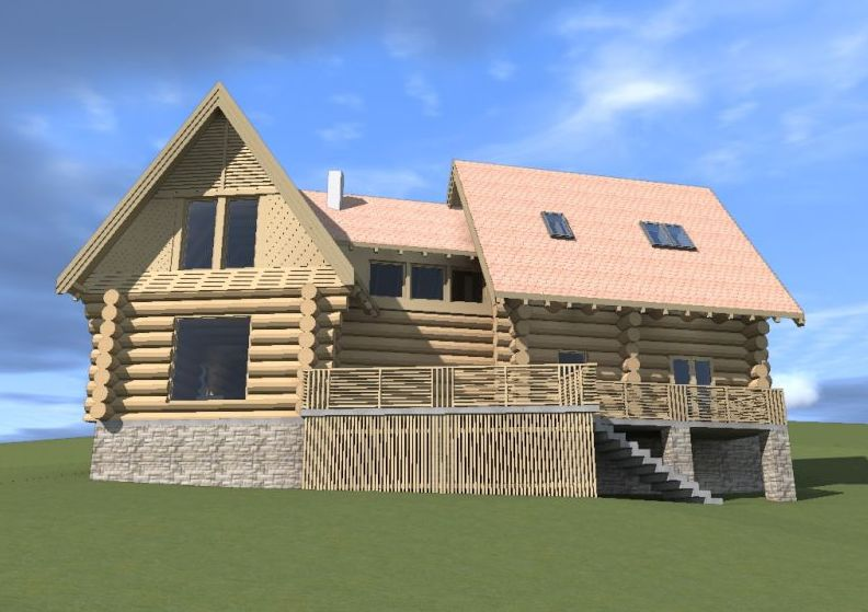 Wood And Rock House Plans Nature 39 S Harmony