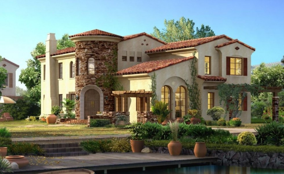 Spanish style house plans exotic design for Spanish style home floor plans