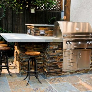 Rustic outdoor kitchen designs archives houz buzz - The chapel cottage historic vestige in contemporary lines ...