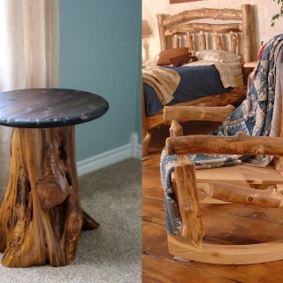 How to make rustic wood furniture at home