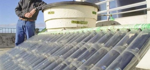 Solar panel with plastic bottles is efficient