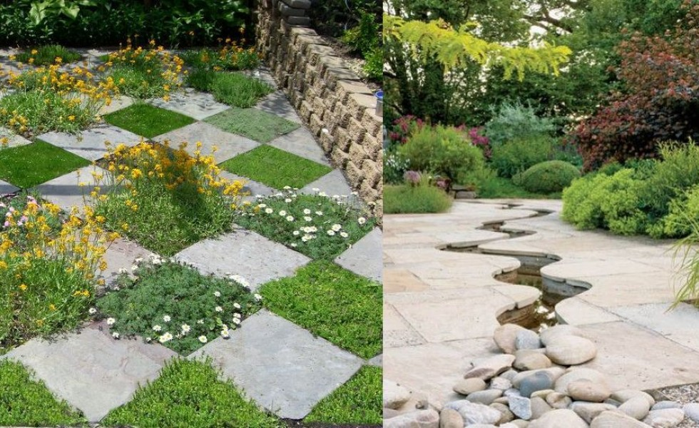 decorative stone garden ideas at home - Garden Design Using Stones