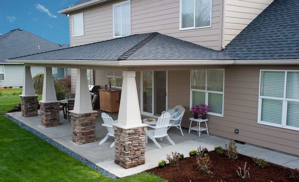Two story house plans with covered patios - Covered patio small house plans ...