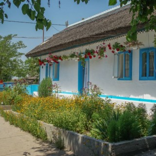Traditional Lippovan houses in the Danube Delta are beautiful