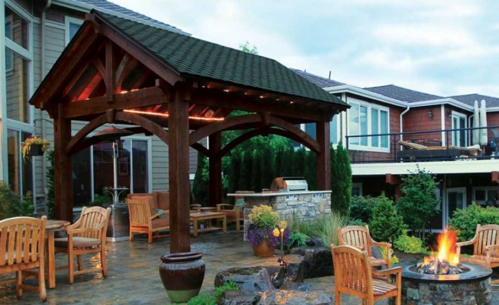 build an outdoor bar how to build a pavilion step by step