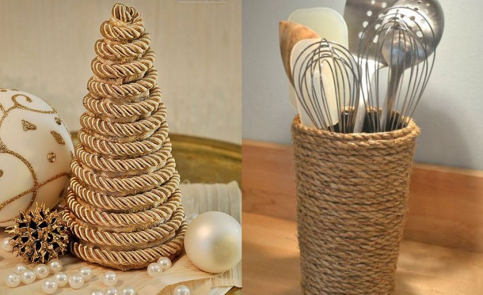 Hemp rope craft ideas at home