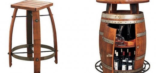 Vintage wooden barrel furniture for home
