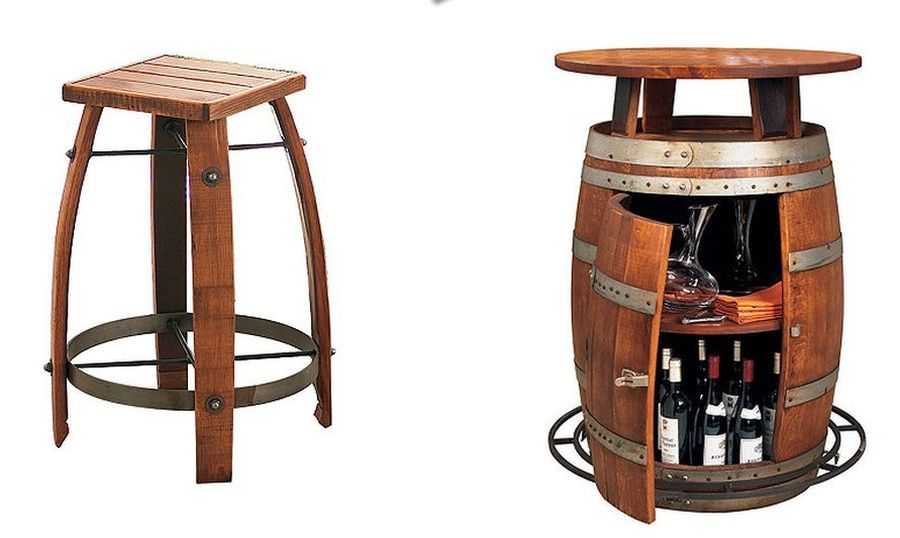 vintage wooden barrel furniture six brilliant ideas