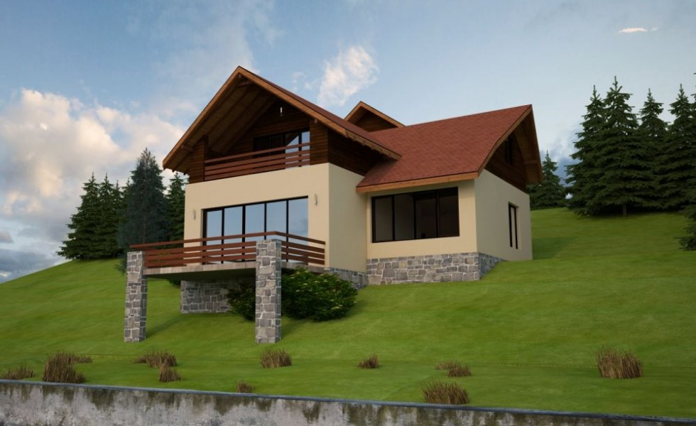 Slope house plans functional design for Homes to build on acreage