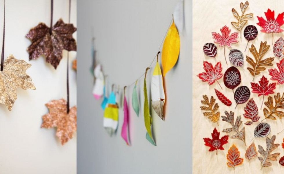 Autumn leaf decorations a creative fall for Autumn leaf decoration