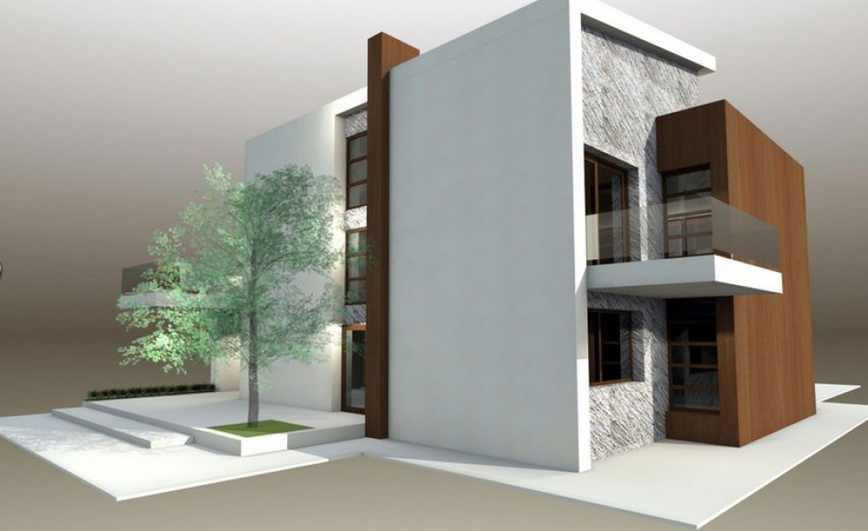 Protruding balcony modern house plans for Balcony modern