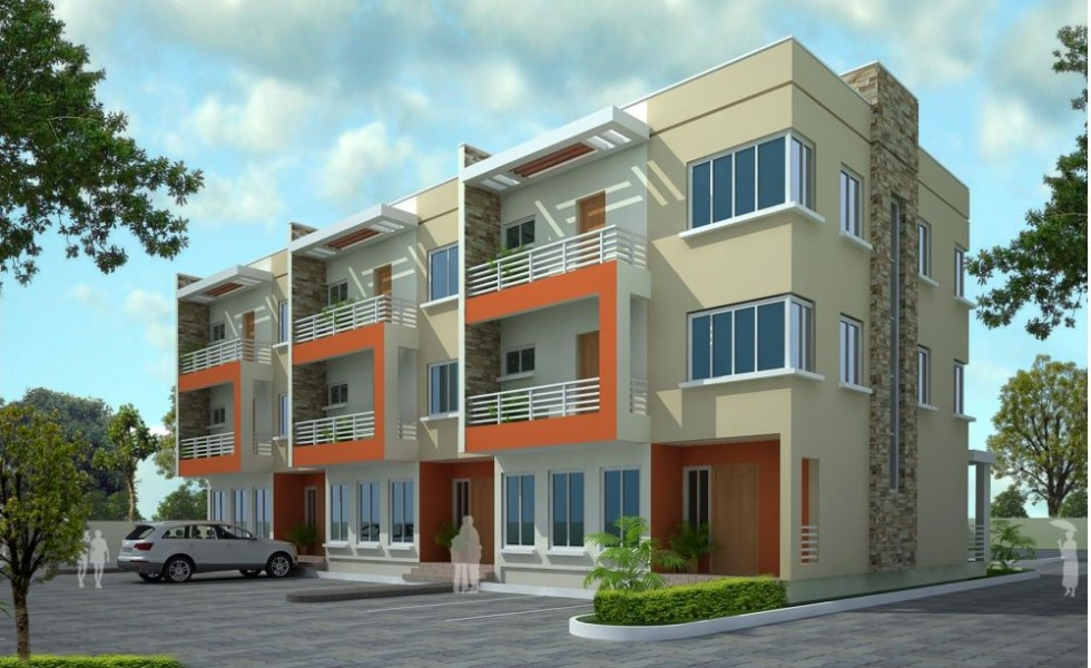 Triplex house plans cost cutting living for Modern triplex house designs