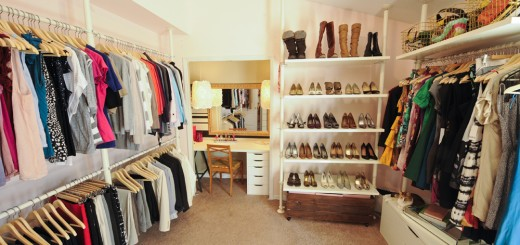 How to turn a closet into a walk-in dressing at home