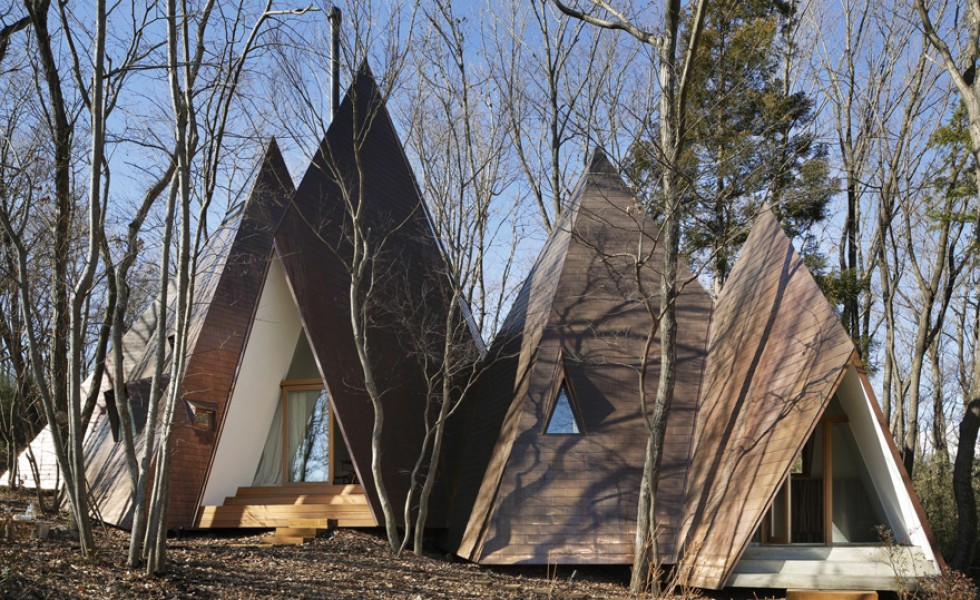The tepee house in Japan