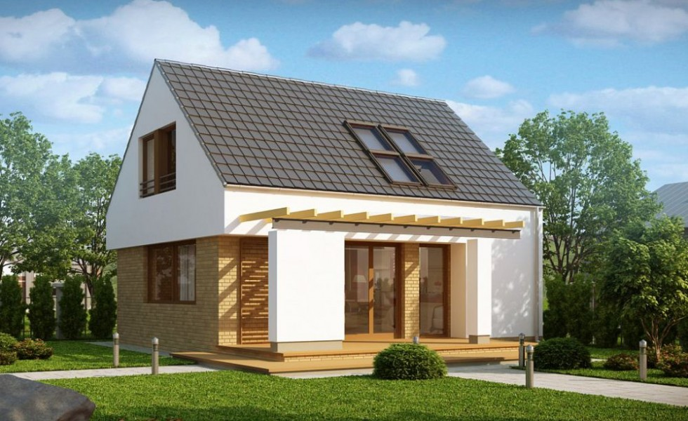Small modern houses with loft the practical choice for The new small house