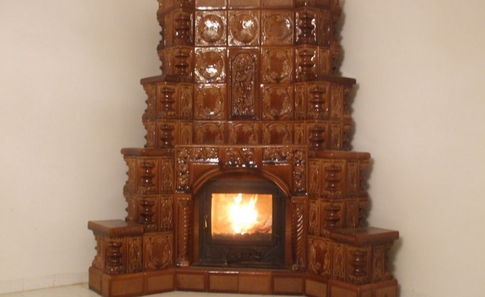Wood stove central heating systems at home