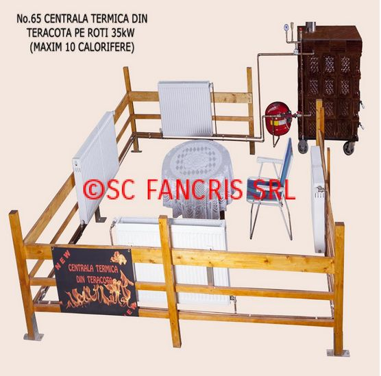centrala termica in soba de teracota Wood stove central heating systems 3