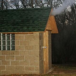 Building your own brick smokehouse at home