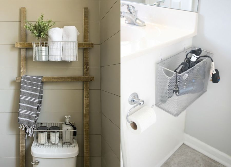 seven tips to save space in a small bathroom
