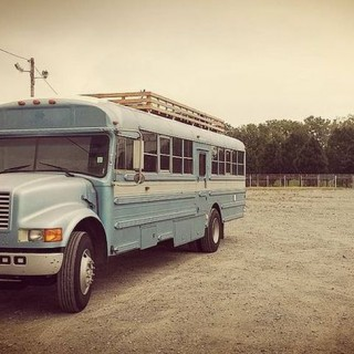 The mobile home on a school bus looks great