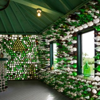 Houses built with recycled materials for nature