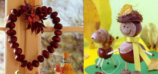 Chestnut decorations for home