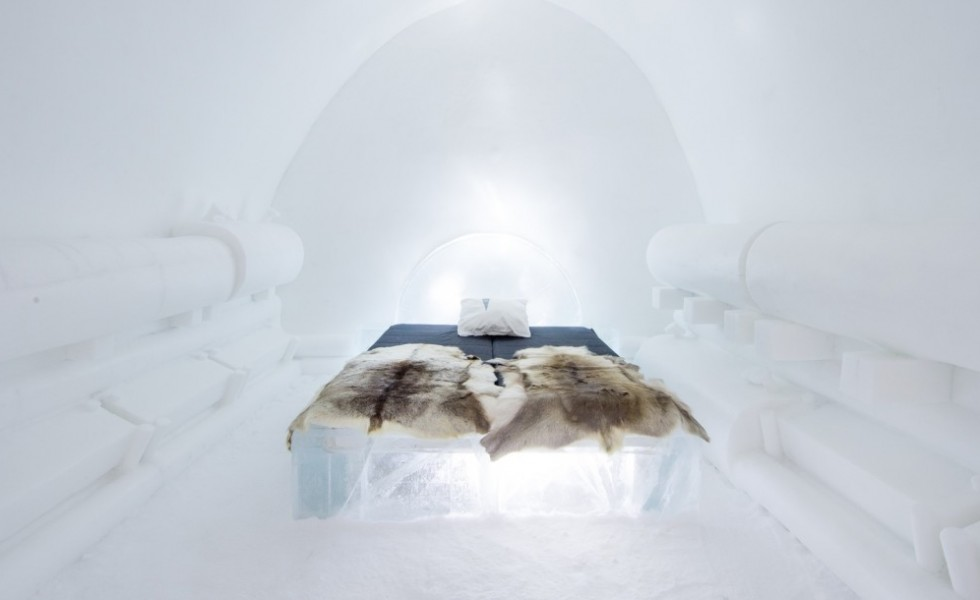 The ice hotel in Sweden