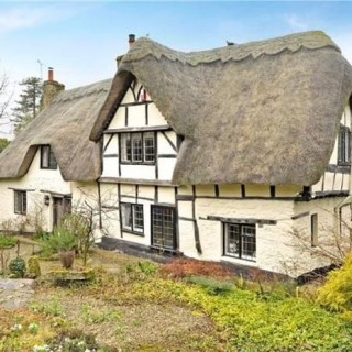 The thatched cottage in England