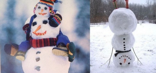 Most creative snowmen in the world