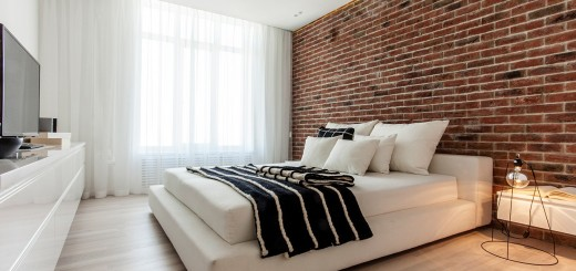 Bedrooms with brick walls look great