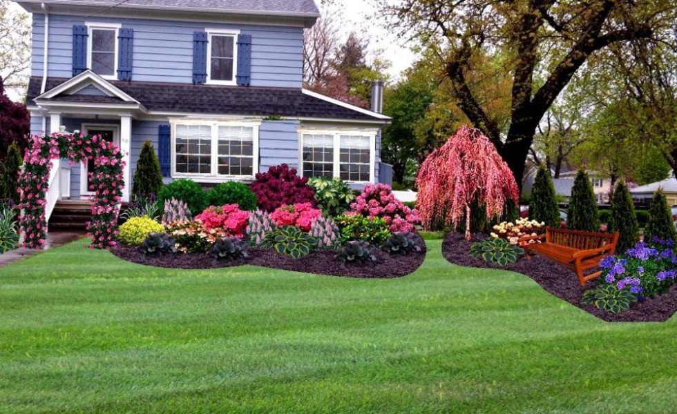 Front Yard Island Landscaping Ideas Part - 21: Front Yard Landscape Ideas For All